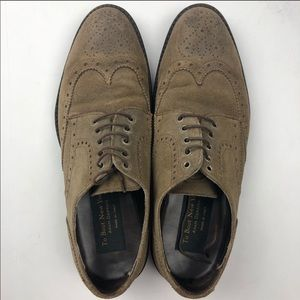 To Boot New York Wingtip Suede Oxfords-Brown
